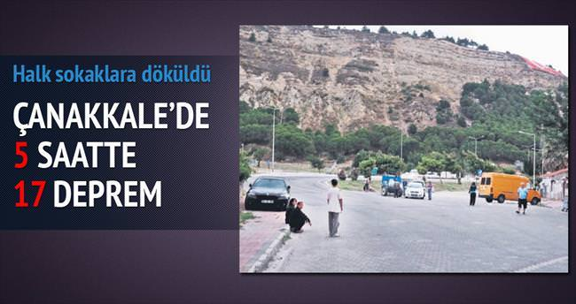 Çanakkale'de 5 saatte 17 deprem