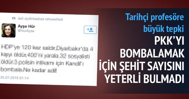PKK operasyonunu eleştiren Ayşe Hür'e büyük tepki