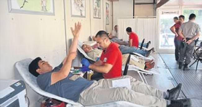 2 günde 100 ünite kan bağışı yapıldı