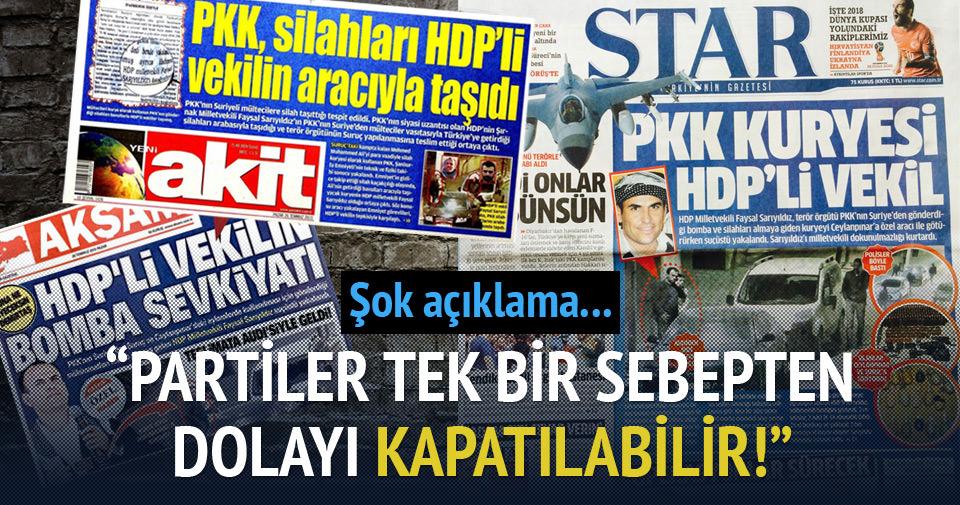 HDP kapatılabilir!