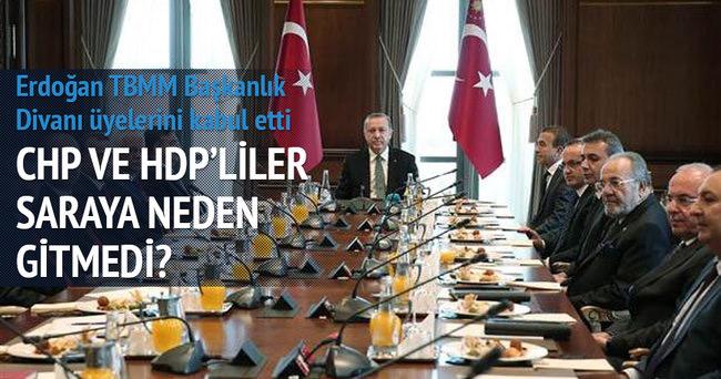CHP ve HDP'liler Saray'a gitmedi