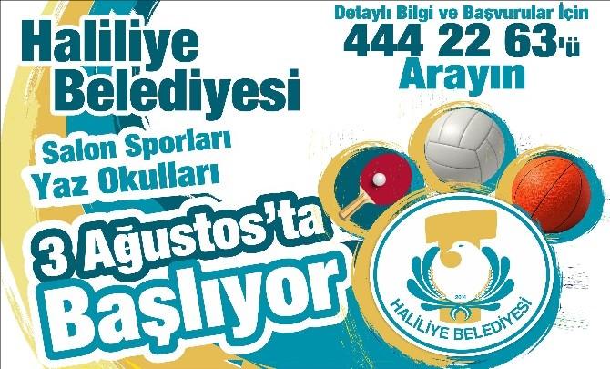 Haliliye Belediyesi Yaz Spor Okulları Açılıyor