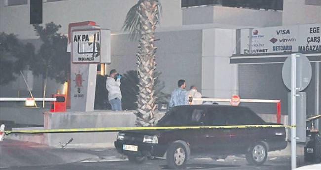 AK Parti binasına bomba koyan 'çarşaflı' aranıyor