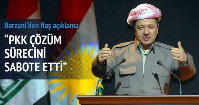 Barzani: PKK Çözüm Süreci'ni sabote etti