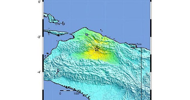 Endonezya'da 7 şiddetinde deprem