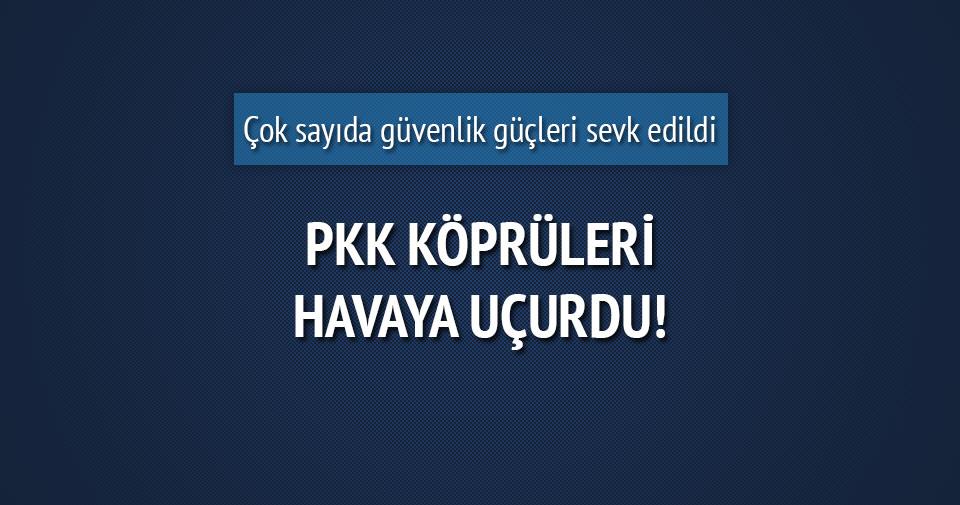 PKK iki köprüyü havaya uçurdu!