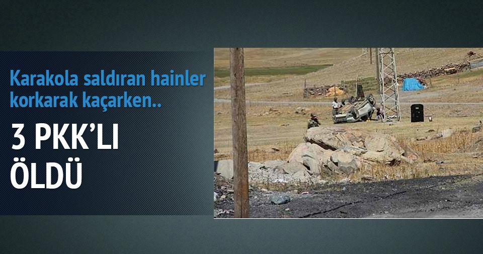 Karakola saldıran PKK'lıların kaçtığı araç takla attı: 3 ölü