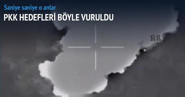 TSK, PKK kamplarını böyle vurdu