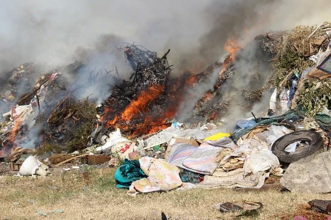 Ereğli'de Çöp Depolama Alanında Yangın