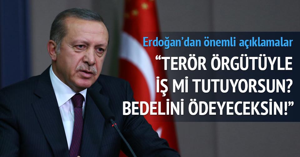 Erdoğan: Geri adım söz konusu değil