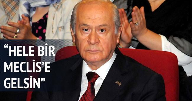 Devlet Bahçeli: Meclis'e geldiğinde MHP ne yapacağını bilir
