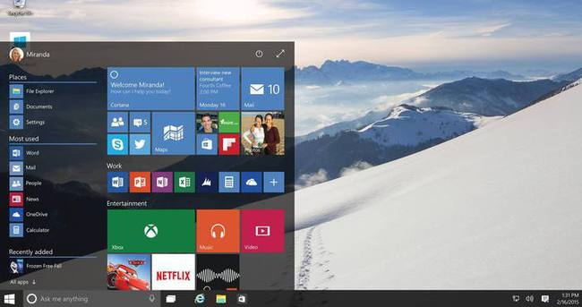 Windows 10'un ilk hatası