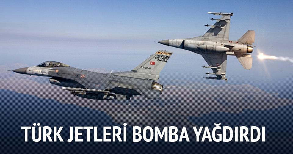 Türk jetleri bomba yağdırdı