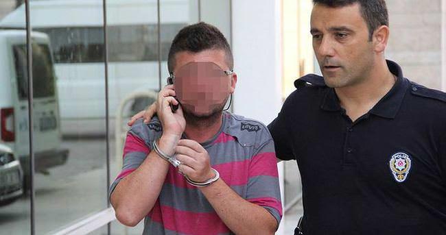 Cezasını sormak için geldiği adliyede tutuklandı