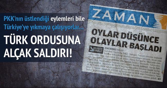 TSK PKK'ya saldırıyor Zaman da TSK'ya!