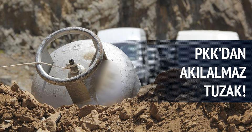 PKK yola patlayıcı yerleştirdi