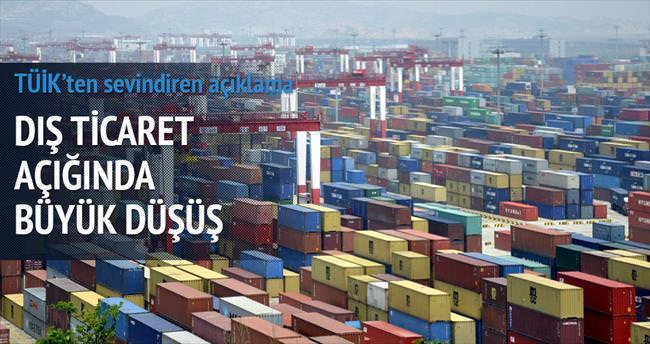 Dış ticaret açığı yüzde 21.6 azaldı