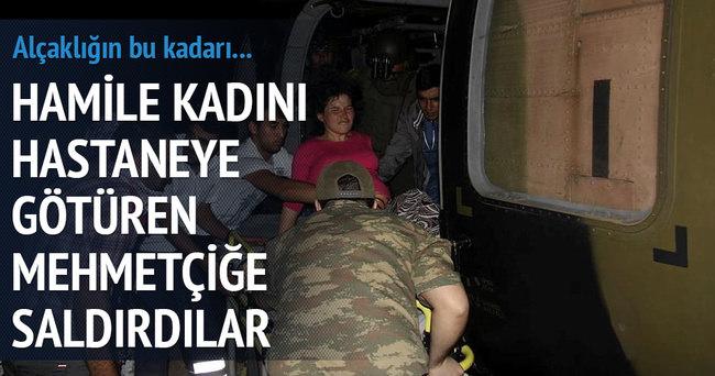 Asker PKK'lılar saldırırken hasta taşıdı