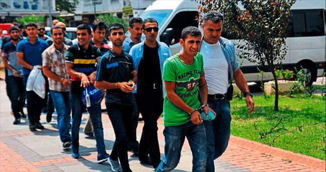 Mersin'de 17 kişi gözaltına alındı