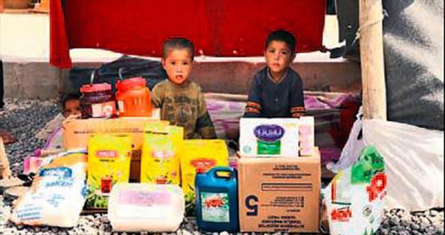 Büyükşehir'den Suriyelilere yardım