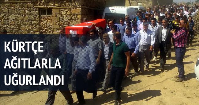 Şehit Mansur Cengiz, Kürtçe ağıtlarla uğurlandı
