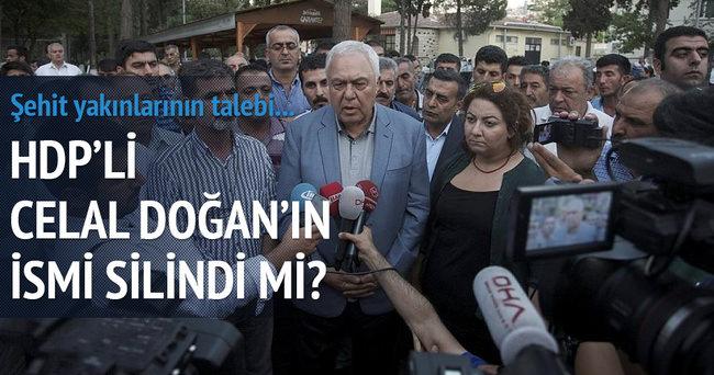 HDP'li Celal Doğan'ın ismi neden silindi?
