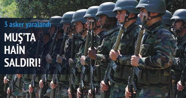 Muş'ta bir alçak saldırı daha: 3 asker yaralandı