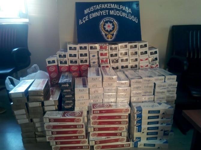 Bin 600 Paket Kaçak Sigara Ele Geçirildi
