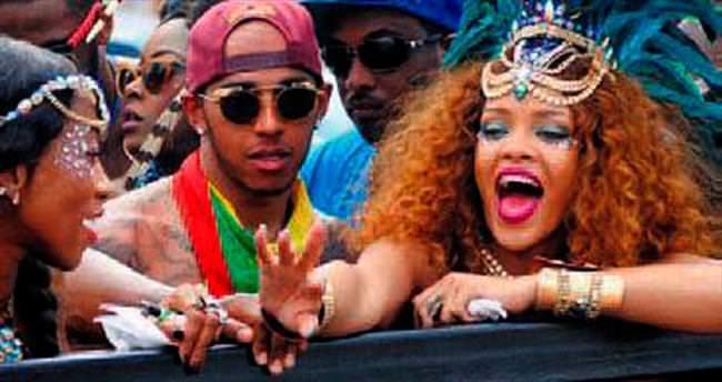 Hamilton'un yeni gözdesi Rihanna