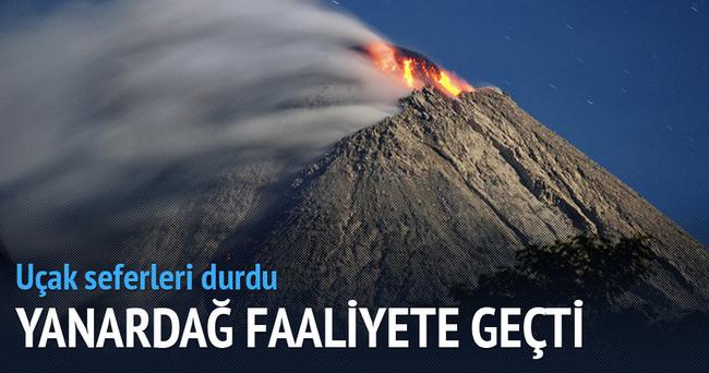 Endonezya'da yanardağ yeniden faaliyette