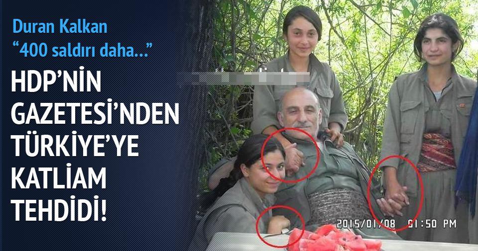 HDP'nin gazetesinden Türkiye'ye katliam tehdidi