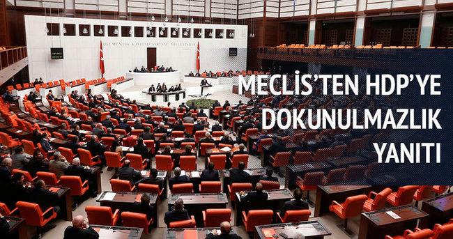 Meclis'ten HDP'ye 'dokunulmazlık' yanıtı
