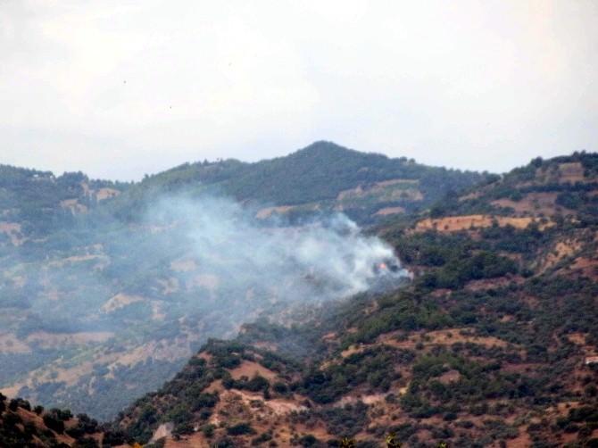 Zeytinlik Alanda Başlayıp Ormana Sıçrayan Yangın Korkuttu