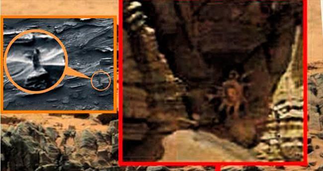Mars'ta bu kez de yengeç görüntüsü