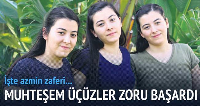 Üçüz kızlar aynı tıp fakültesini kazandı