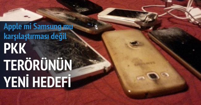 PKK akıllı telefonları kurşunladı