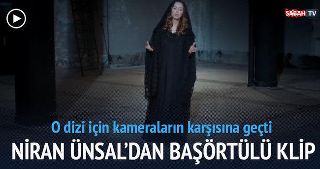 Niran Ünsal TRT'nin yeni dizisi Son Çıkış için başörtülü klip yaptı