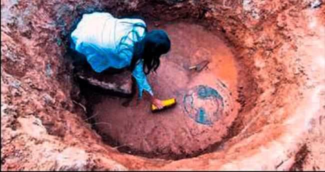 'Olba' mozaiği müzede koruma altında