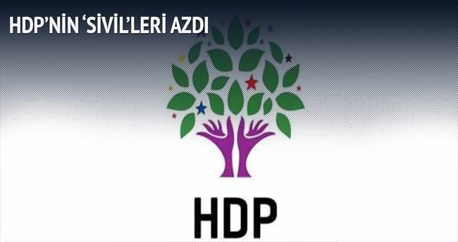 HDP'nin 'sivil'leri azdı