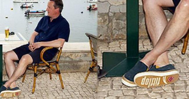 Cameron'un ayakkabıları İngiltere'de günün konusu oldu