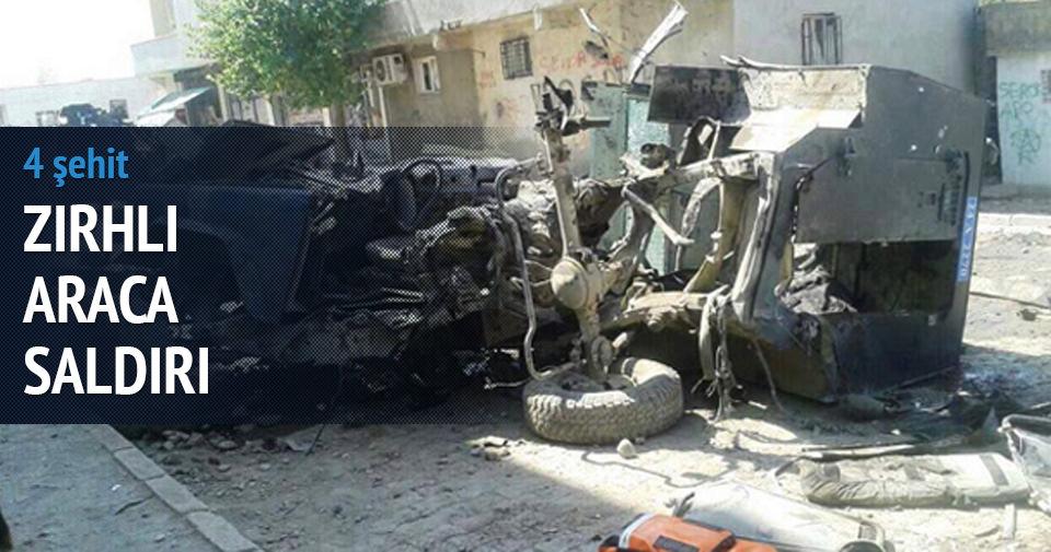 Silopi'de mayınlı saldırı: 4 polis şehit