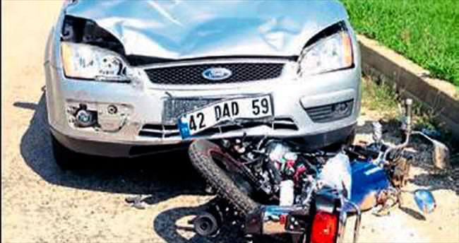 Kasksız sürücü yaşamını yitirdi