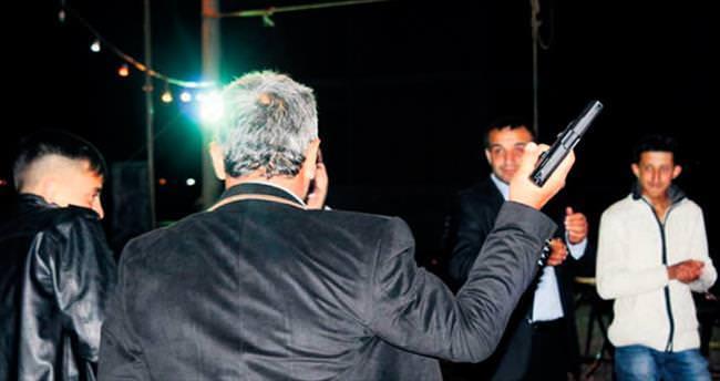 Düğün magandasına emniyetten sıkı takip