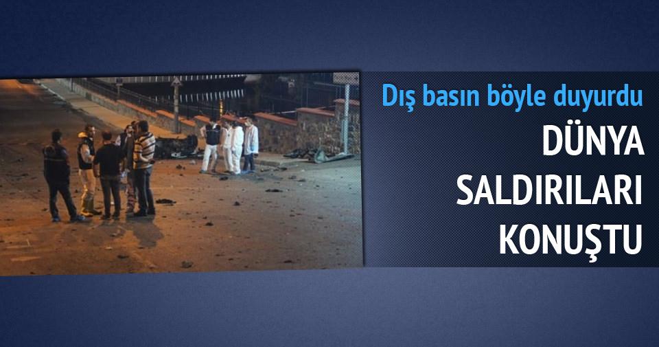 Türkiye'deki saldırılar dünya basınında