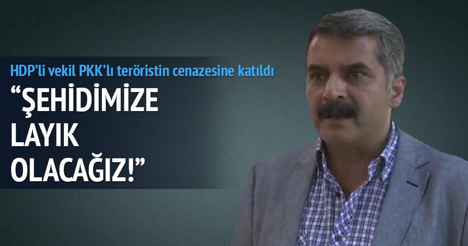 HDP'li vekil PKK'lı teröristin cenazesinde