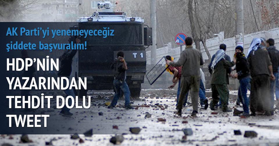 HDP'nin yazarından tehdit dolu tweet