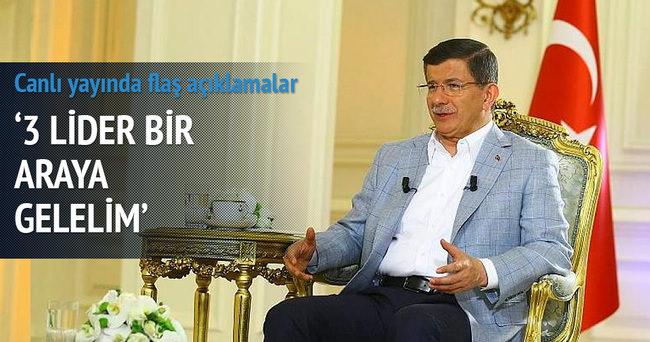 Davutoğlu'ndan canlı yayında flaş açıklamalar