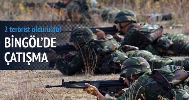 Bingöl'de çatışma 2 terörist öldürüldü!