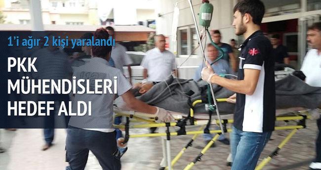 PKK mühendisleri hedef aldı