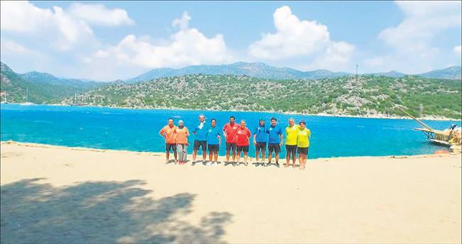 Beş ülkeden çiftler 'Türk Adası'nda yarışıyor